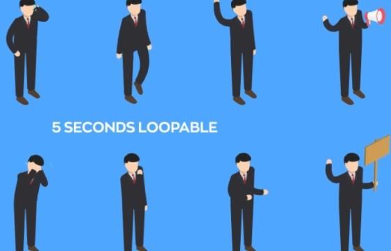 AE模板 商务人物卡通图形动画 VideoHive Isometric People