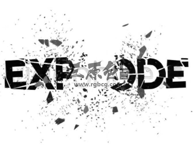 AE模板:LOGO文字标志定向爆炸特效 Logo Explode Ae 模板-第1张