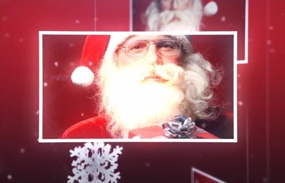 AE模板 魔术圣诞老人相册幻灯片 Magic Christmas Slideshow