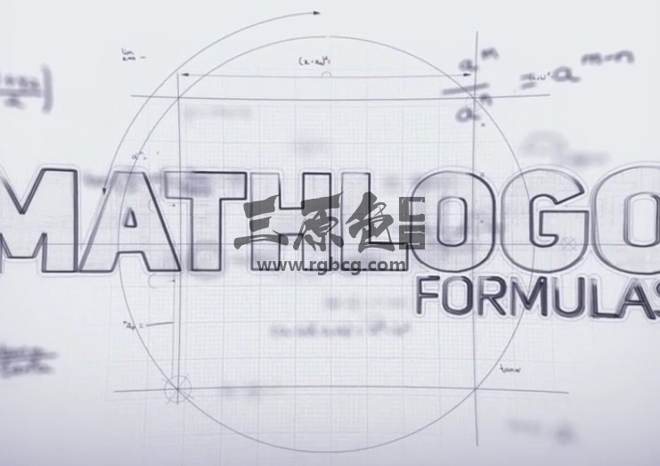 AE模板 数学公式LOGO标志显示 Math Formulas Logo Reveal Ae 模板-第1张