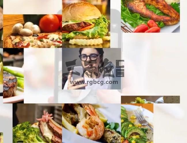 AE模板 吃货美食图片汇聚LOGO片头 Minimal Multi Image Logo Ae 模板-第1张