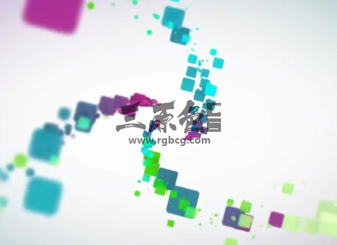 AE模板 - 彩色碎片汇聚LOGO标志显示 Minimal Particles Logo Ae 模板-第1张