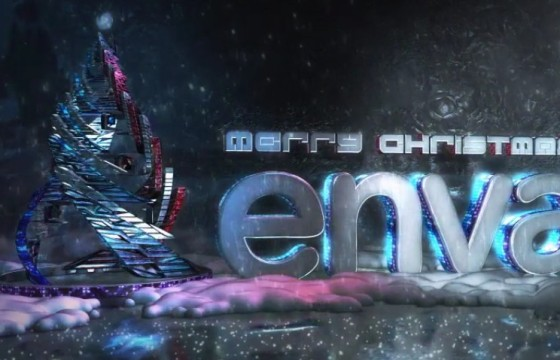 AE模板 圣诞节E3D三维动画LOGO片头 Modern Christmas