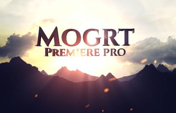 Pr CC 2019模板-Mogrt基本图形模板 Mountain Title