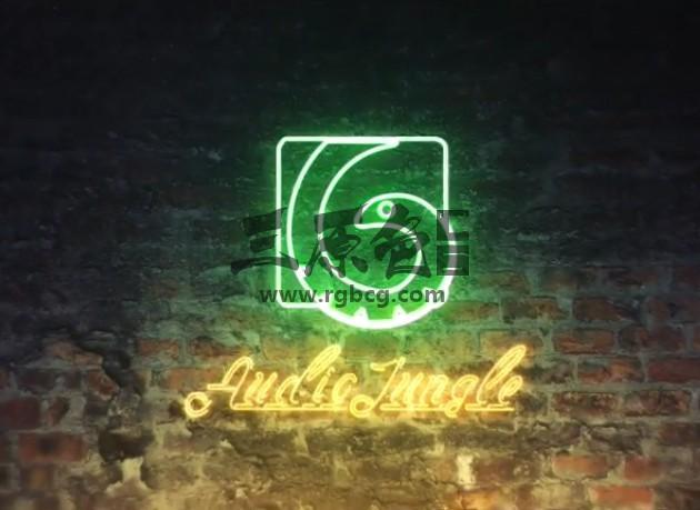 AE模板 霓虹灯LOGO标志描边显示动画 Neon Logo Reveal Ae 模板-第1张
