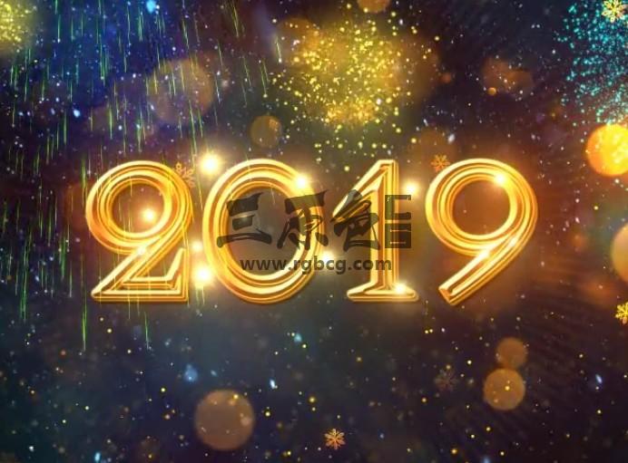 AE模板 金色2019年新年春节倒计时片头 New Year Countdown 2019 Ae 模板-第1张