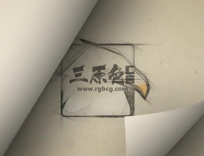 AE模板 铅笔手绘翻页LOGO显示动画 Page Flip Sketch Logo Ae 模板-第1张