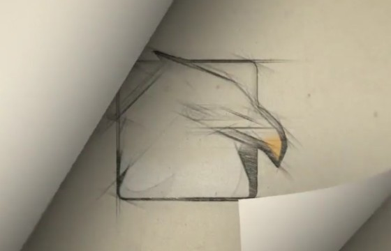 AE模板 铅笔手绘翻页LOGO显示动画 Page Flip Sketch Logo