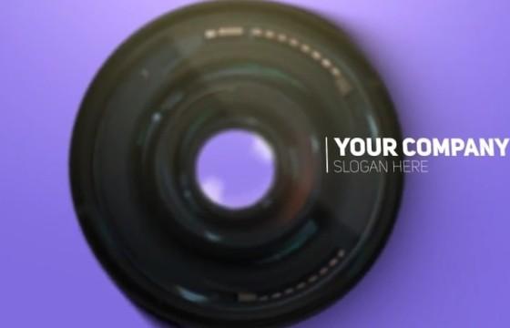 AE模板 单反镜头摄影LOGO标志片头 Photography Logo Reveal