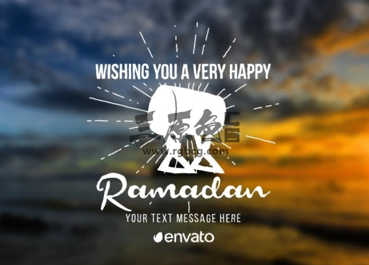 AE模板 - 斋月图形文字标题字幕条动画 Ramadan Titles Ae 模板-第1张