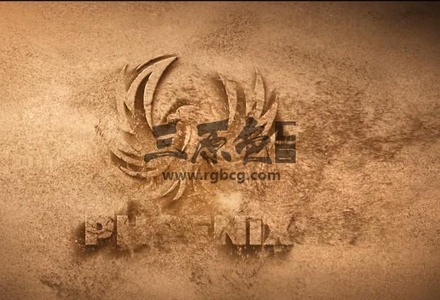 AE模板 风沙吹走 沙化LOGO显示片头 Sand Logo Opener Ae 模板-第1张