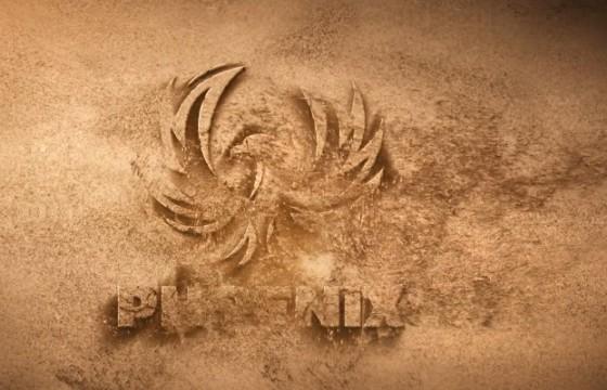 AE模板 风沙吹走 沙化LOGO显示片头 Sand Logo Opener