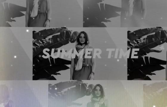 AE模板 夏天时尚模特视频包装幻灯片 Summer Opener