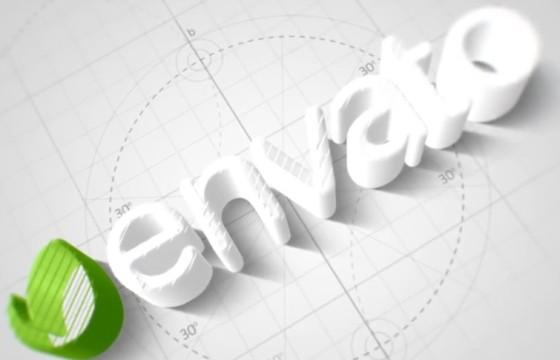 AE模板 优雅简洁的三维LOGO标志动画片头 Technical Elegant Logo