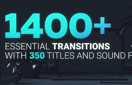 AE模板 1400多个视频无缝转场过渡特效+音效 Transitions