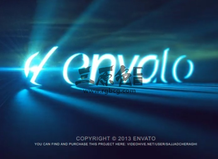 AE模板 烟雾LOGO标志文字发光射线 Volumetric Light In Smoke Logo Ae 模板-第1张
