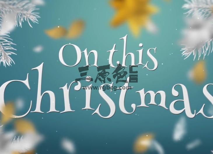 AE模板 白色圣诞节相册幻灯片 White Gold Christmas Slideshow Ae 模板-第1张