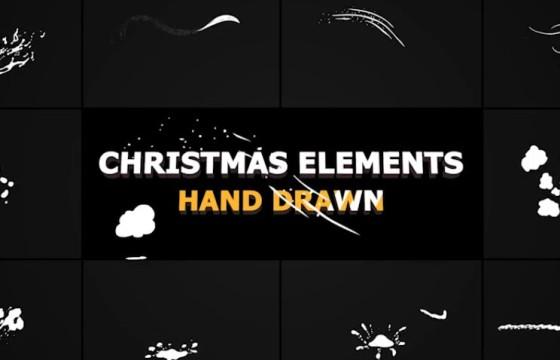 AE模板 冬天雪花图形动画元素 Winter Snow Elements