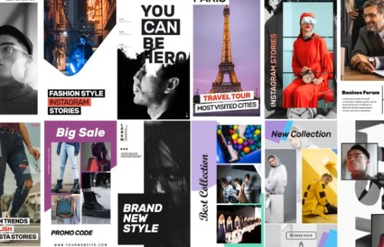 AE模板 – 16个朋友圈竖屏广告视频 Instagram Stories