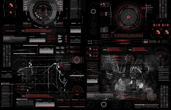 AE模板 高科技透明HUD信息资料显示动画 HUD Infographic