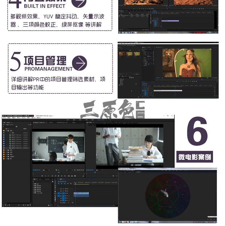 Premiere Pro零基础入门到高级中文高清后期剪辑调色Pr教程 VIP 资源-第3张