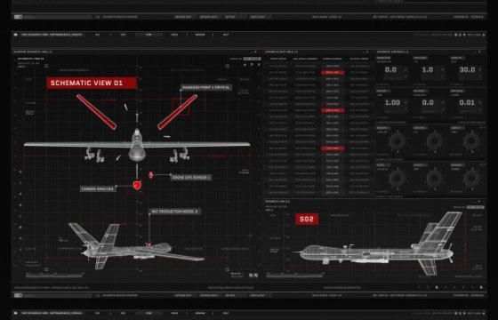 AE模板 电影.电视和游戏的UI图形HUD动画 HUD UI Graphics