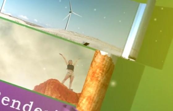 AE模板 创意卷轴展开动画 图文幻灯片展示 3D Warp Toolkit