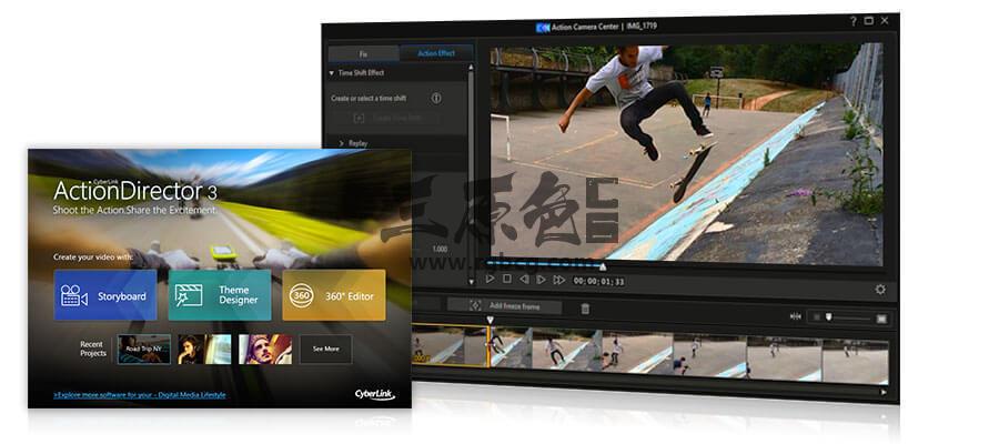 视频特效剪辑制作 威力酷剪CyberLink ActionDirector Ultra v3.0 中文极致版 影视后期-第1张