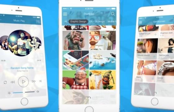 AE模板 – 手机APP程序功能界面介绍演示宣传 VideoHive App Promo