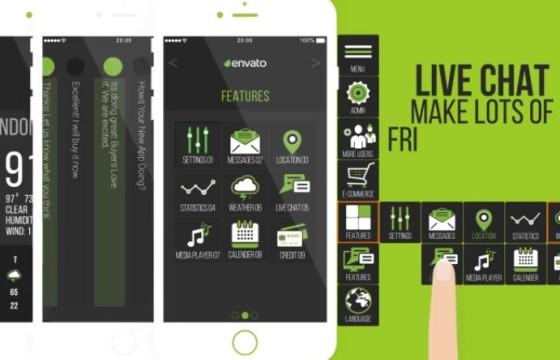 AE模板 移动APP应用功能演示推广展示 App Promotion