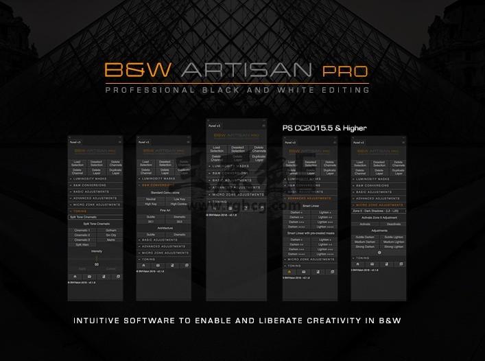 PS扩展脚本 黑白工匠专业版 B&W Artisan Pro v1.3中文汉化版 脚本/动作-第1张