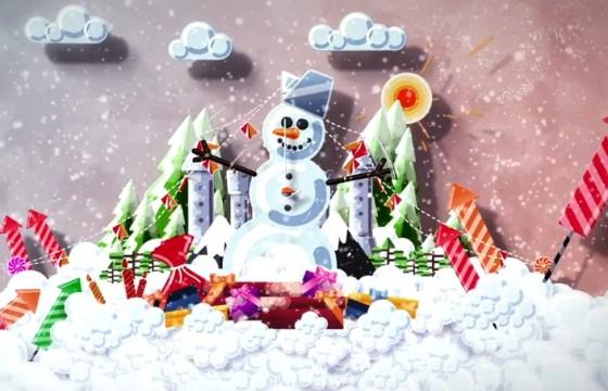 AE模板 – 卡通冬季太阳雪人元素动画LOGO片头 Cartoon Holiday