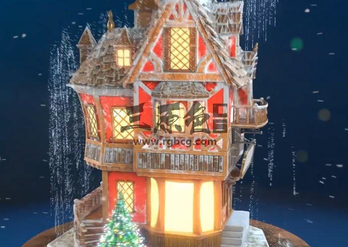 AE模板 圣诞节新年 城堡生长动画LOGO片头 Christmas Ae 模板-第1张