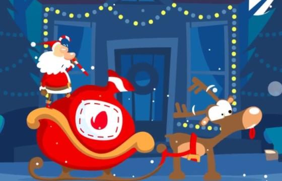 AE模板 圣诞节卡通图形动画LOGO片头 Christmas Logo Opener