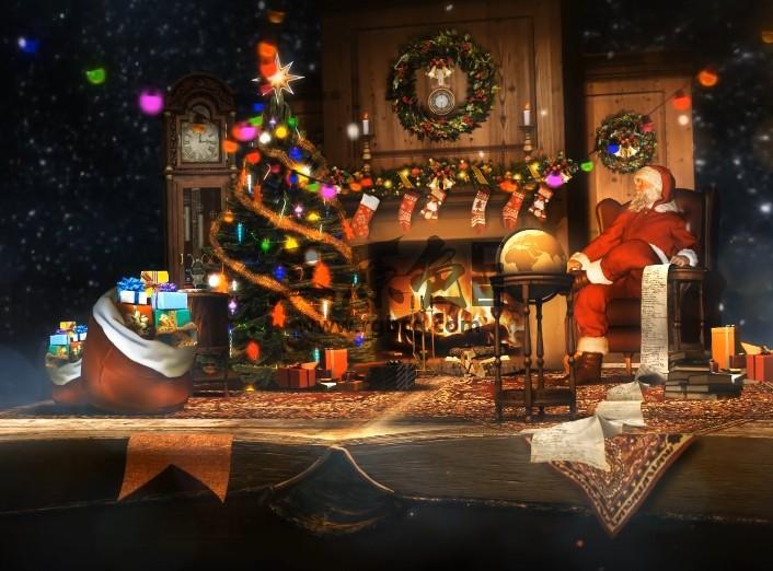 AE模板 魔幻圣诞夜书本翻页立体剪纸动画 Christmas Pop Up Book Ae 模板-第1张