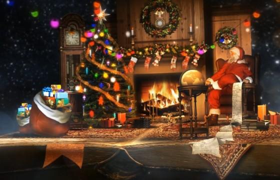 AE模板 魔幻圣诞夜书本翻页立体剪纸动画 Christmas Pop Up Book