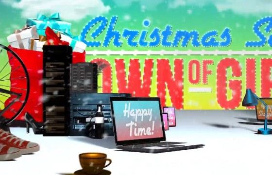 AE模板 春节圣诞节销售购物促销活动片头 Christmas Sale Shopping