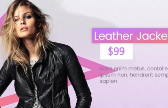 AE模板 时尚衣服时装促销广告展示 Clean Fashion Market