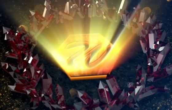 AE模板 菱形水晶环绕LOGO标志片头 Crystal Growing Opener