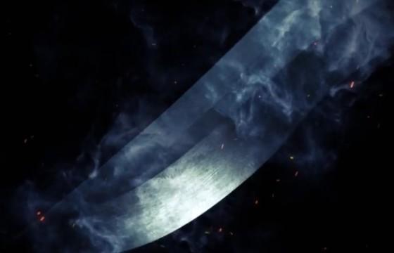 AE模板 冷兵器刀身闪现LOGO标志片头 Cutting Edge Logo Reveal