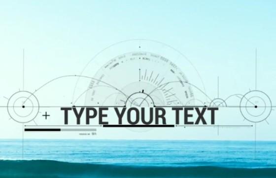 AE模板:HUD科技元素标题设计动画 Element Title Designer