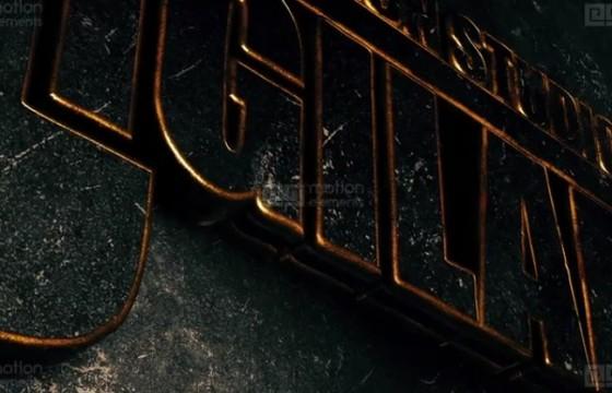 AE模板 优雅的三维金属LOGO片头 Elegant Metal Gold Logo