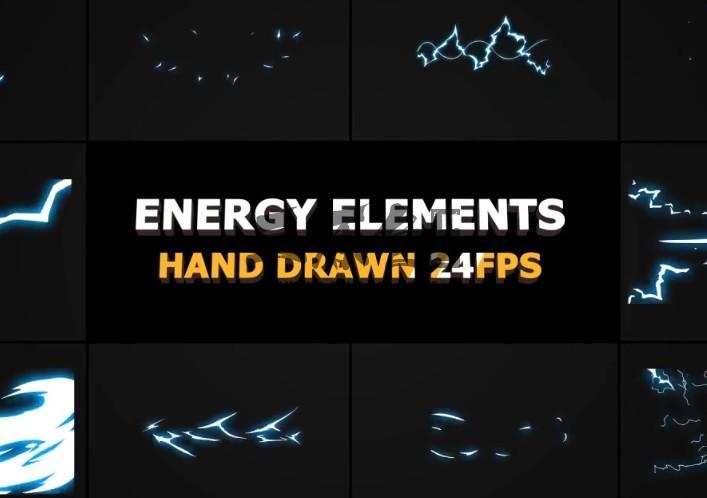 Pr模板 卡通图形能量元素和过渡动画 Energy Elements And Transitions Pr 模板-第1张