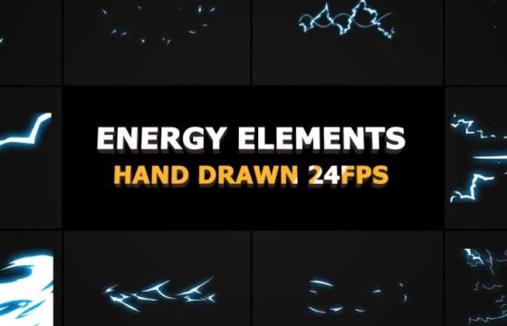 Pr模板 卡通图形能量元素和过渡动画 Energy Elements And Transitions