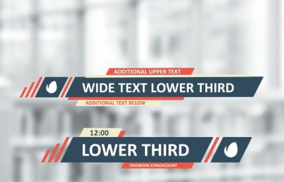 AE模板 扁平化新闻人名字幕条动画 Flat Lines Lower Thirds