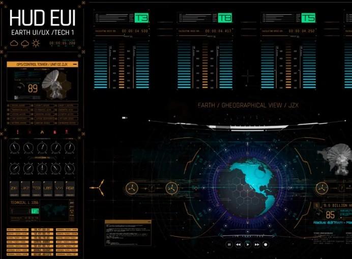 AE模板 高科技科幻HUD透明动画素材 HUD Screens Ae 模板-第1张
