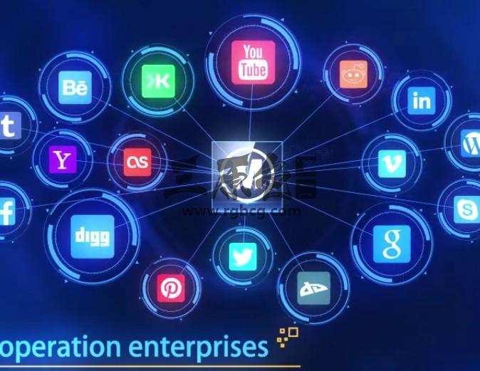 AE模板 HUD大数据 业务图标动画连线片头 HUD Tech Plexus Ae 模板-第1张