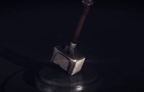 AE模板 锤击特效LOGO显示片头 Hammer Impact Reveal