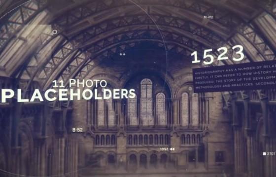 AE模板 – 图像记忆 历史时间轴图文回忆记录 History Timeline