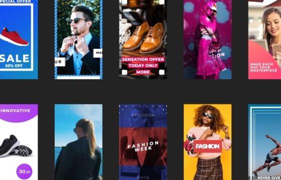 AE竖屏模板 手机移动端竖屏图文促销广告 Instagram Stories Pack